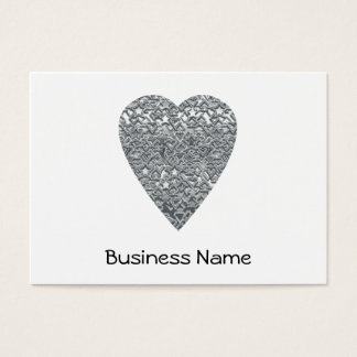 Heart. Printed Light Gray and Mid Gray Pattern. Business Card