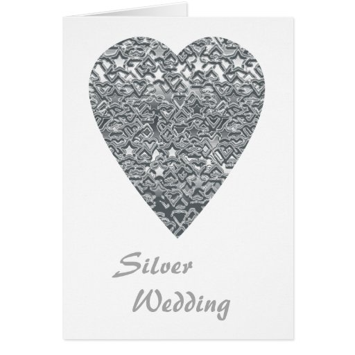 Heart. Printed Light Gray and Mid Gray Pattern. Card