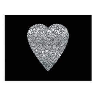 Heart. Printed Light Gray and Mid Gray Pattern. Postcard