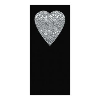 Heart. Printed Light Gray and Mid Gray Pattern. Rack Card