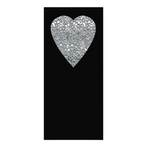 Heart. Printed Light Gray and Mid Gray Pattern. Custom Rack Card