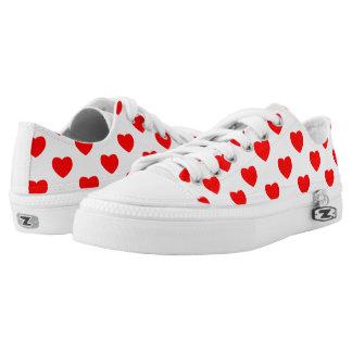 Heart prints on Custom Zipz Low Top Shoes