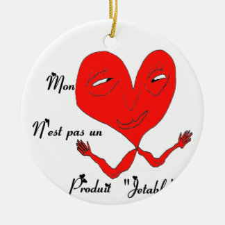 HEART PRODUCES JETABLE.png Double-Sided Ceramic Round Christmas Ornament