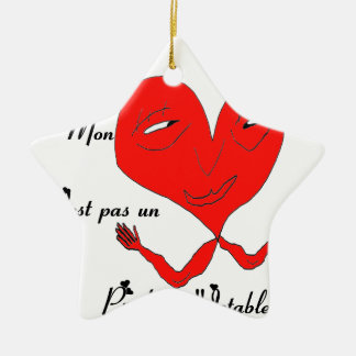 HEART PRODUCES JETABLE.png Double-Sided Star Ceramic Christmas Ornament