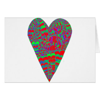 Heart Psychedelic Card