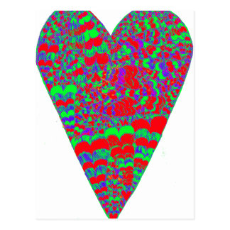 Heart Psychedelic Postcard
