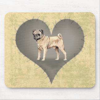 Heart Pug Mouse Pad