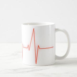 heart pulse coffee mug