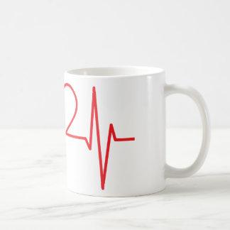 Heart Pulse Monitor Coffee Mug
