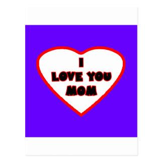 Heart Purple Blue Transp Filled The MUSEUM Zazzle Postcard