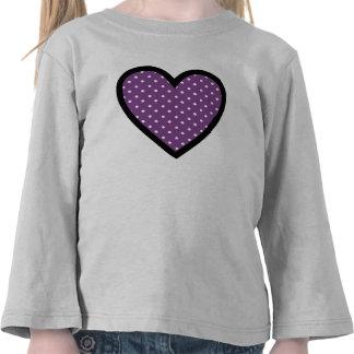 Heart Purple Polka Dots Tee Shirt