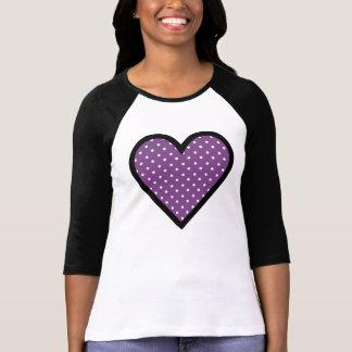 Heart Purple Polka Dots T Shirts