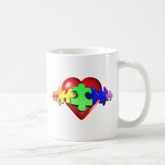 Heart Puzzle Links Coffee Mug