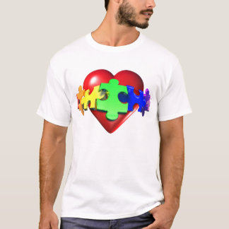 Heart Puzzle Links T-Shirt