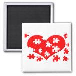 Heart Puzzle Magnet