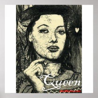 Heart Queen print