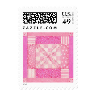 Heart Quilt Block Small (1st Class, 1 oz) Stamps