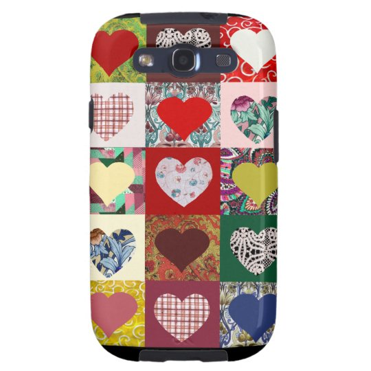 Heart Quilt design Galaxy S3 Cover