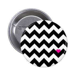 Heart & Rafter - Black/Rose Button