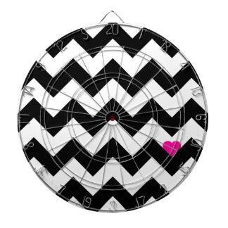 Heart & Rafter - Black/Rose Dart Board