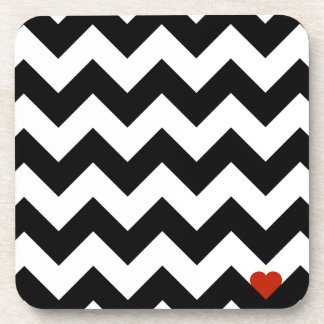 Heart & Rafter - Red Black/Traditional Beverage Coaster