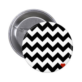 Heart & Rafter - Red Black/Traditional Pinback Button