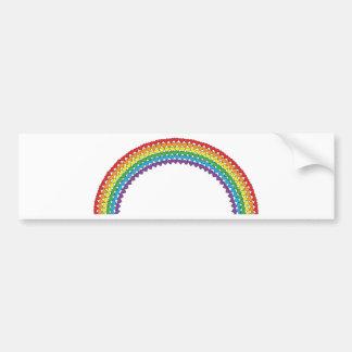 Heart Rainbow Bumper Sticker