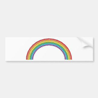 Heart Rainbow Car Bumper Sticker