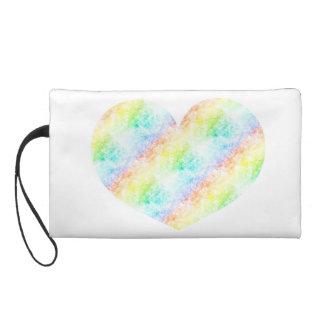 Heart Rainbow Cloud Customize Stay Cloudy Wristlet Purse