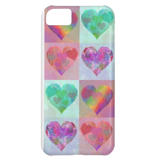 HEART RAINBOW DESIGN IPHONE cute abstract iPhone 5C Case