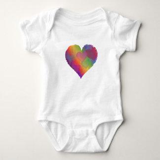 HEART RAINBOW DESIGN T SHIRT cute abstract