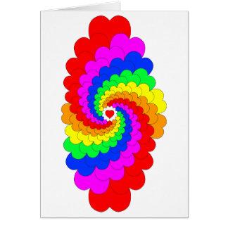 Heart Rainbow Greeting Card
