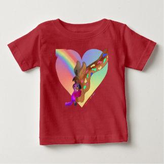 Heart Rainbow & Lila Baby Fine Jersey T-Shirt