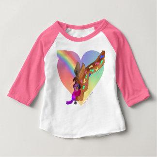 Heart Rainbow & Lila Baby T-Shirt
