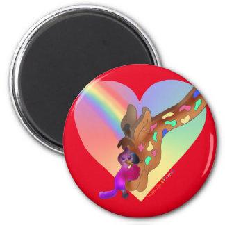 Heart Rainbow & Lila by The Happy Juul Company Magnet