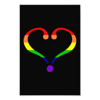 Heart Rainbow of the pride day of San Valentin Photo Print