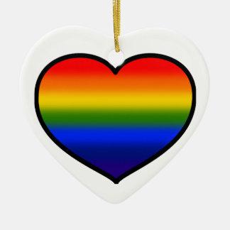 (Heart) Rainbow ornament