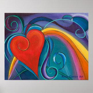 Heart Rainbow Poster