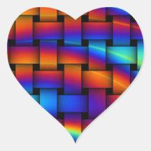 HEART RAINBOW STICKERS