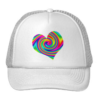 Heart Rainbow Twirl Trucker Hat