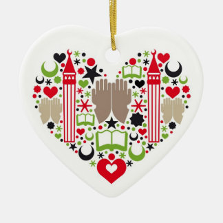 Heart Ramadan Christmas Ornaments