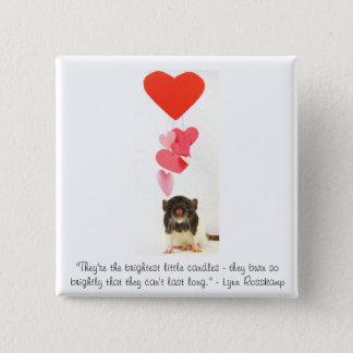 Heart Rat Pinback Button