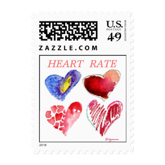 Heart Rate Funny Love Postage