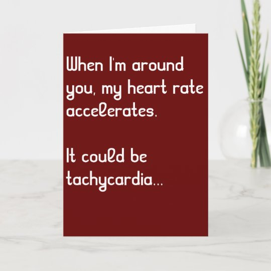 Heart Rate Funny Medical Valentine S Day Card Zazzle Com
