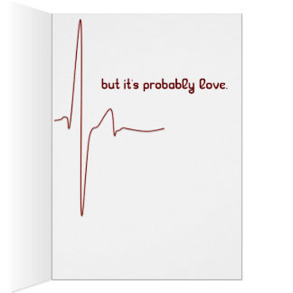 heart rate romantic funny valentine card greeting card