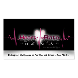Heart Rate Training Goal Card Business Card
