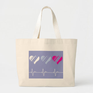 Heart Rate vector Large Tote Bag