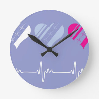 Heart Rate vector Round Clock