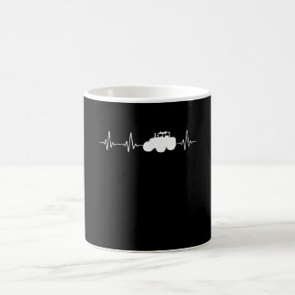 Heart Rate With Tractor Coffee Mug