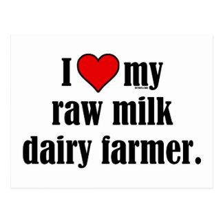 Heart Raw Milk Farmer Postcards
